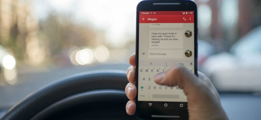 Avoid driving while texting